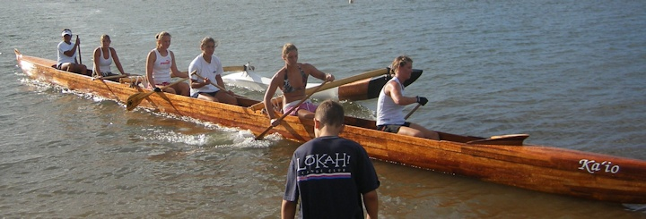 our racing koa canoe, Ka Io